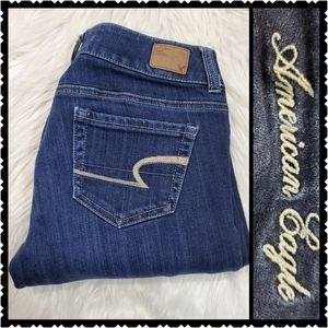 American Eagle artist stretch womans 4 dark jeans